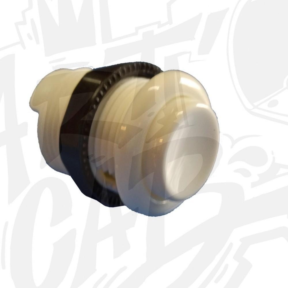 Bouton  28mm vissable Gold Leaf - Blanc