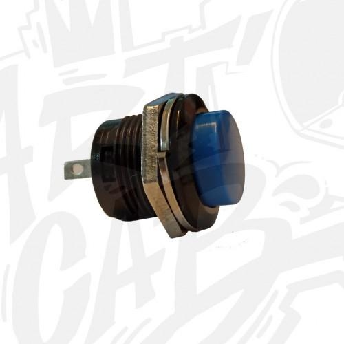 Bouton service 16mm - Bleu