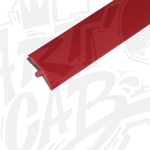 Chute de T-molding 19mm rouge - 2 mètres