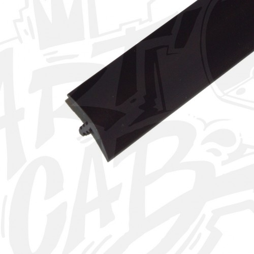 Chute de T-molding 19mm noir- 8 mètres