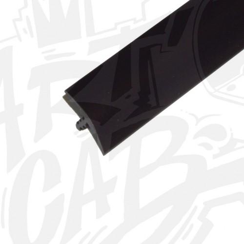 Chute de T-molding 19mm noir - 4 mètres