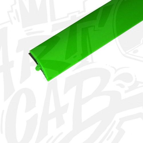 Chute de T-molding 16mm vert- 3 mètres