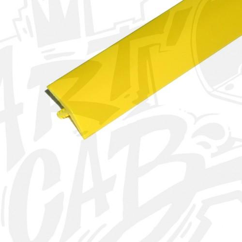 Chute de T-molding 19mm jaune - 3 mètres
