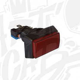 Bouton lumineux rectangulaire - Rouge