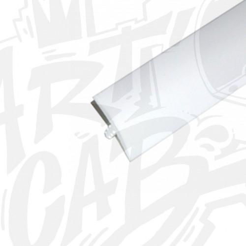 Chute de T-molding 16mm blanc - 3 mètres