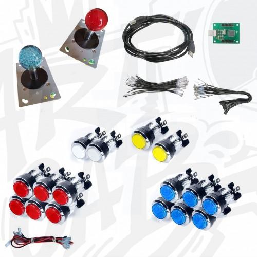 Kit arcade deux joueurs FULL lumineux