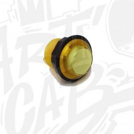 Bouton lumineux transparent 24mm Jaune AIO