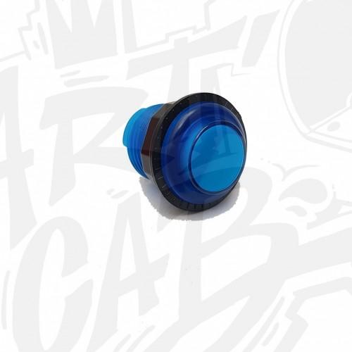 Bouton lumineux transparent 24mm Bleu AIO