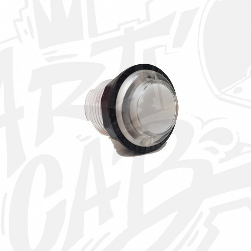 Bouton lumineux transparent 24mm Blanc AIO