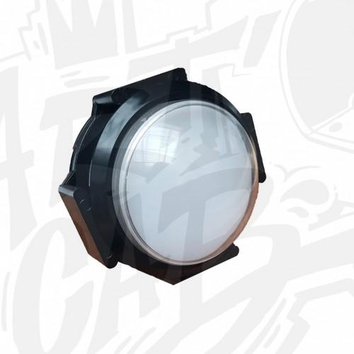 Bouton lumineux 63mm dôme - Blanc