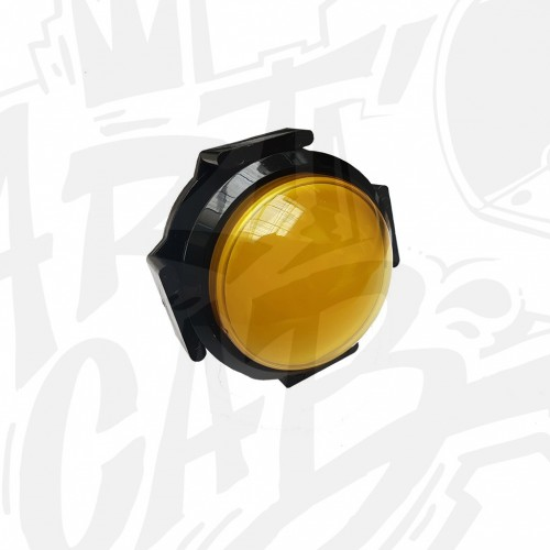Bouton lumineux 63mm dôme - Jaune