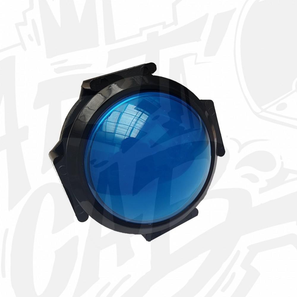 Bouton lumineux 63mm dôme - Bleu