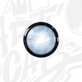 Bouton lumineux 100mm dôme - Blanc