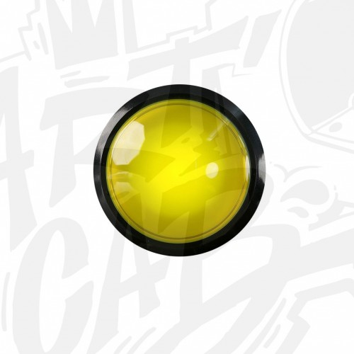Bouton lumineux 100mm dôme - Jaune