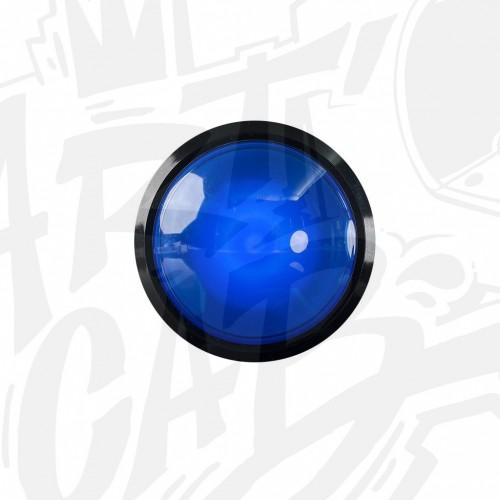 Bouton lumineux 100mm dôme - Bleu