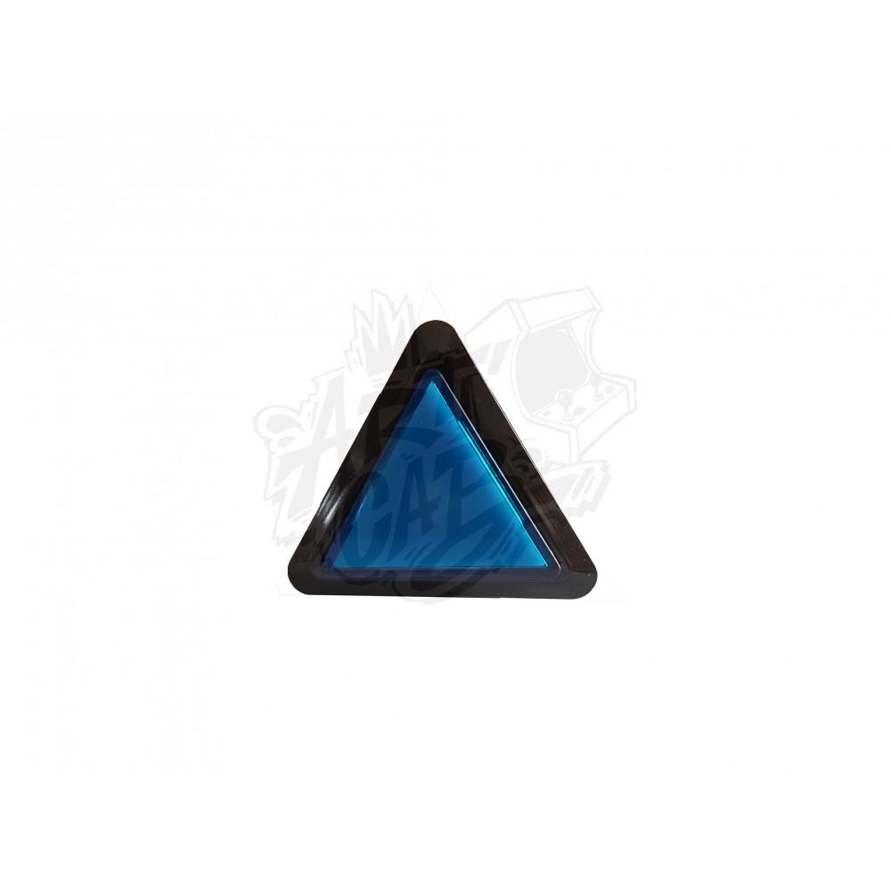 Bouton lumineux triangulaire - Bleu