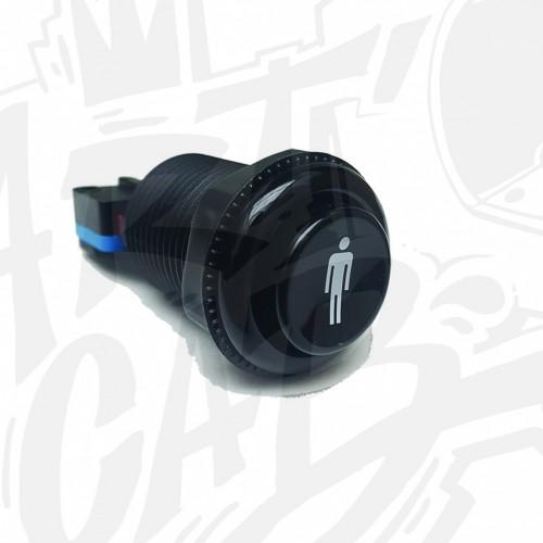 Bouton incurvé 28mm - Noir - Joueur 1