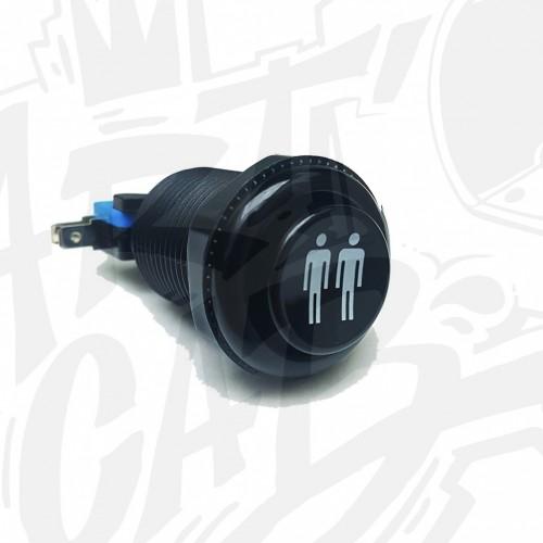 Bouton incurvé 28mm - Noir - Joueur 2