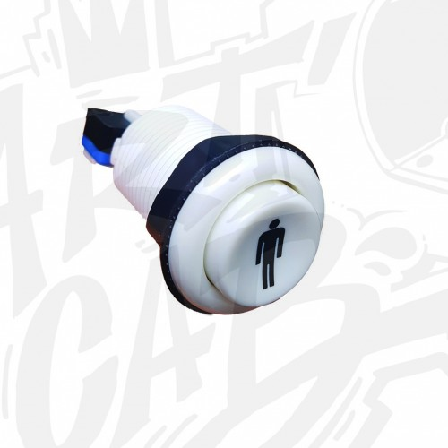 Bouton incurvé 28mm - Blanc - Joueur 1
