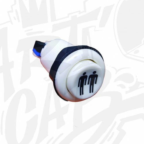 Bouton incurvé 28mm - Blanc- Joueur 2