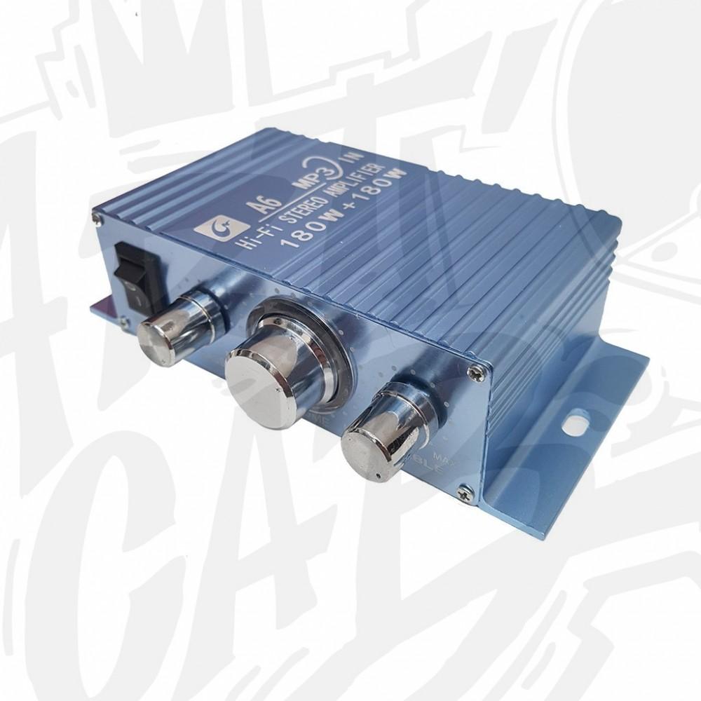 Amplificateur audio stereo - Bleu