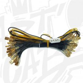 Cable d'alimentation molex pour boutons lumineux - 30 boutons - Cosses 6.4mm