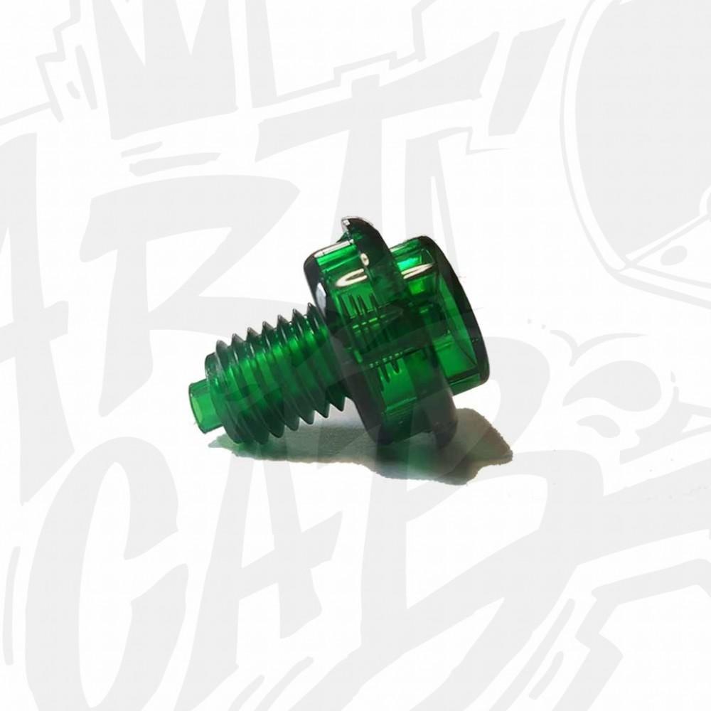 Bouton translucide - Vert