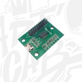 Encodeur joystick/boutons PC/PS3 1P avec cosses 4.8mm - Xin-mo