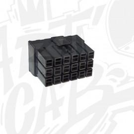 Connecteur AMP-UP Mâle 18 pin - Noir