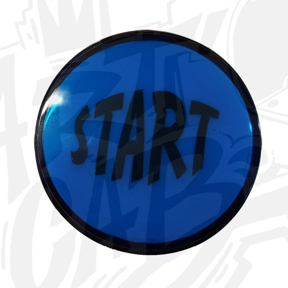 """Bouton """"Start"""" Lumineux Bleu"""