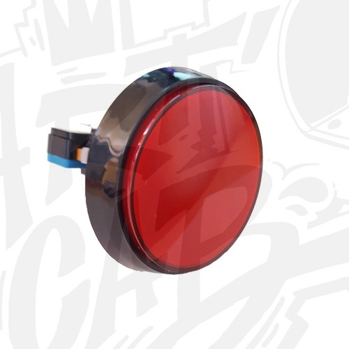 Bouton 60 mm Lumineux - Rouge