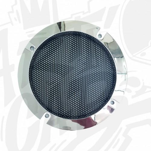 Grille  haut parleur 120mm - Chrome