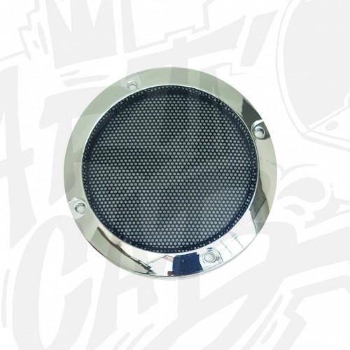 Grille haut-parleur 95mm - Chrome