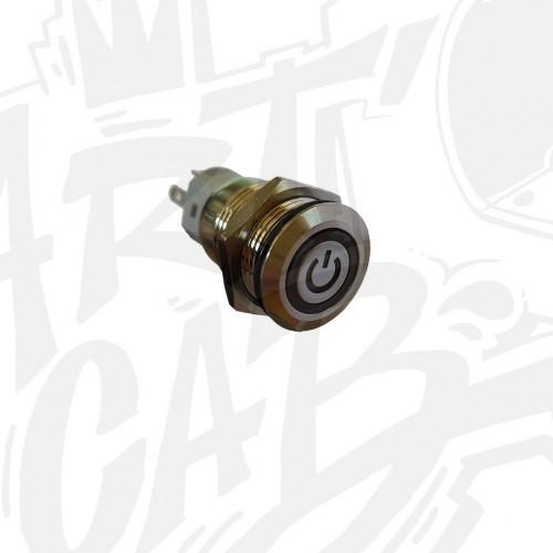 Bouton poussoir métal ON/OFF 16mm